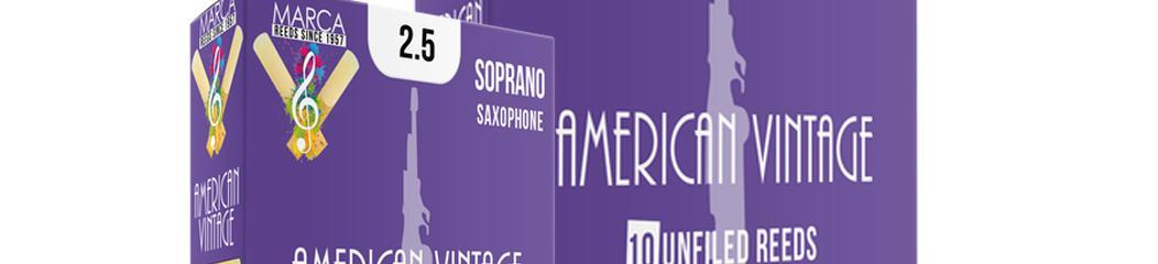 Anche sax Soprano American Vintage boite de 10